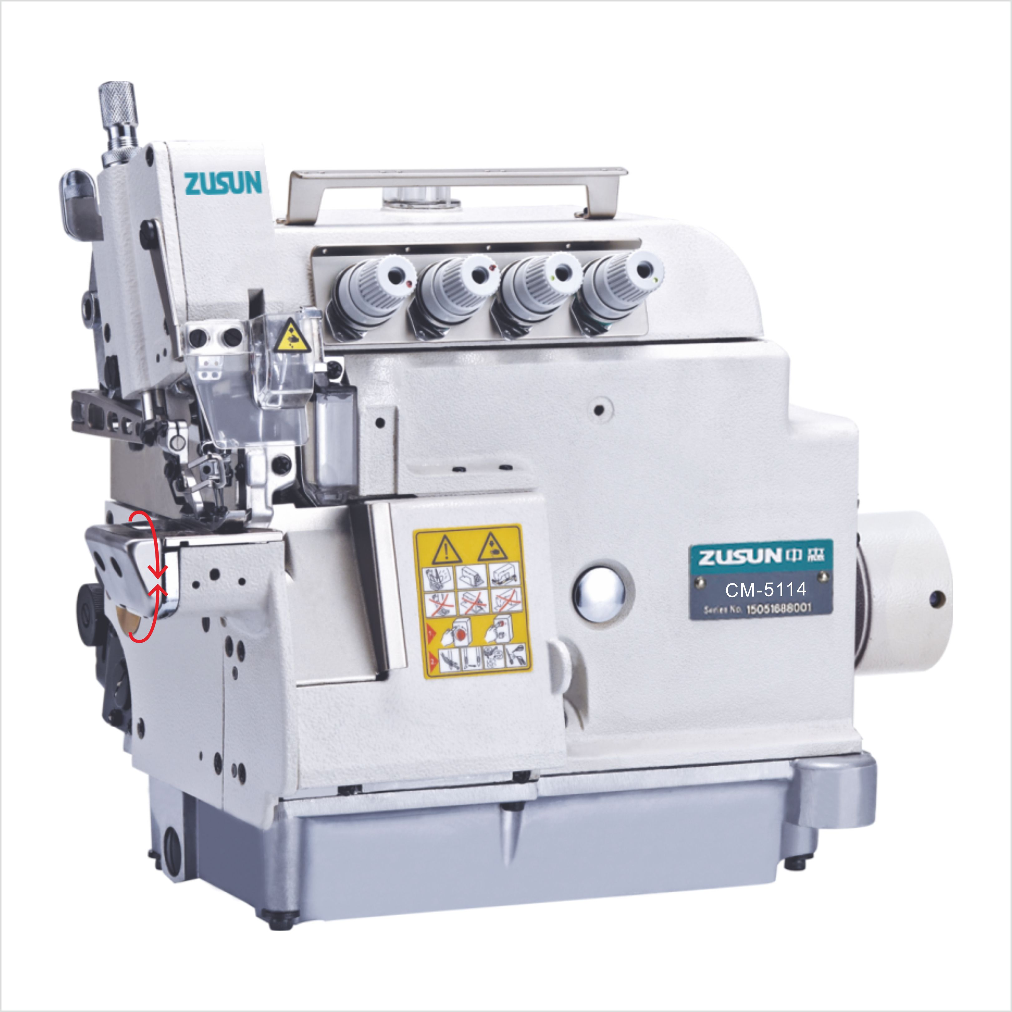Small cylinder bed overlock machine