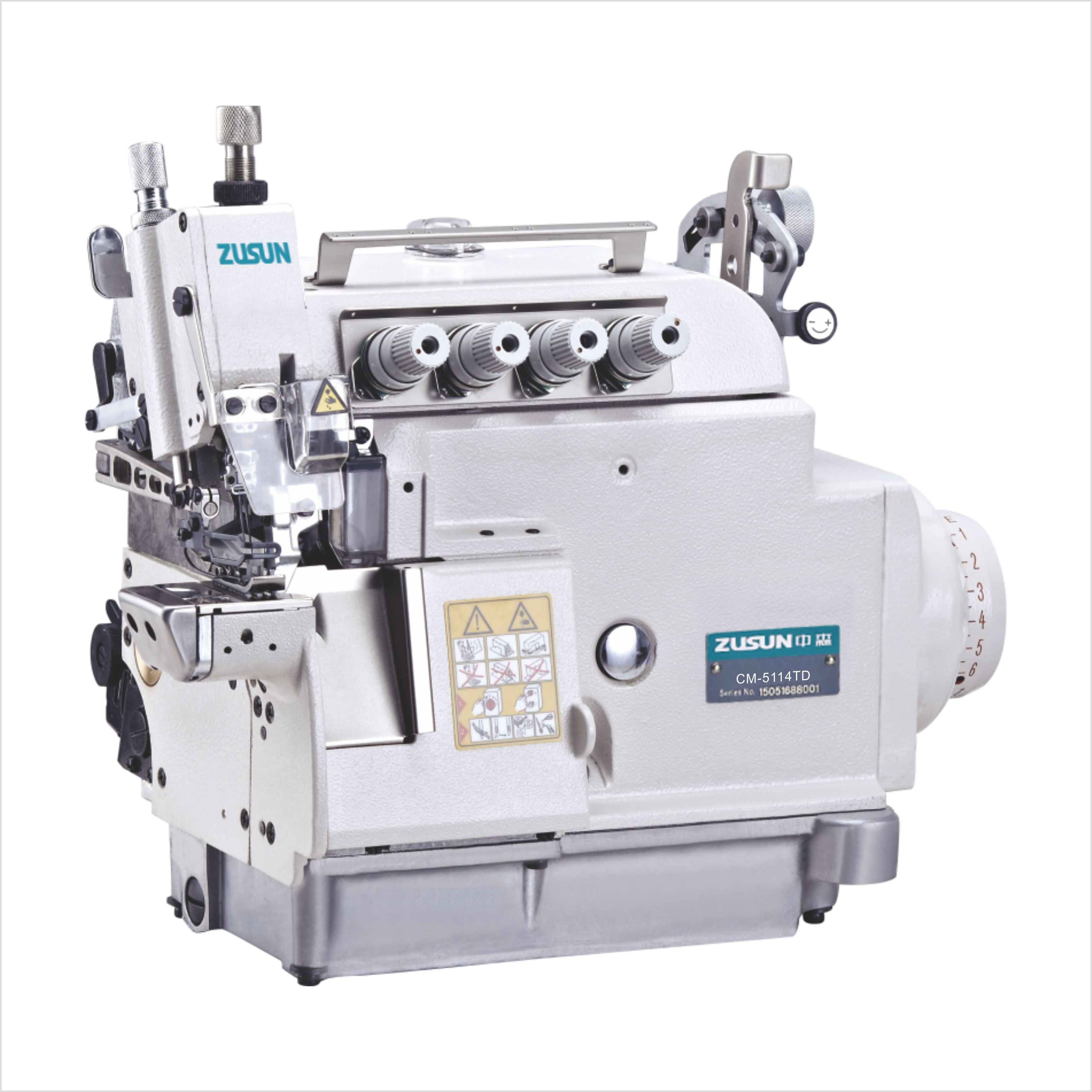 Direct drive small cylinder bed overlock machine with variable top feed